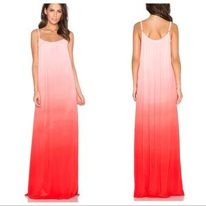 Splendid Ombré Maxi Dress Poppy Size Large